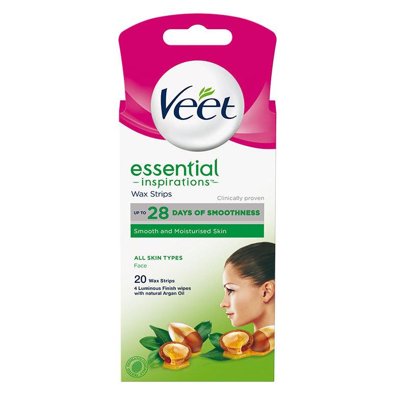 Veet Essential Inspirations Wax Strips All Skin Types Face 20 stk.