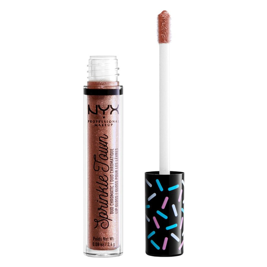 NYX Professional Makeup Sprinkle Town Duo Chromatic Lip Gloss 01 Shimmer Cravings 2,4 g