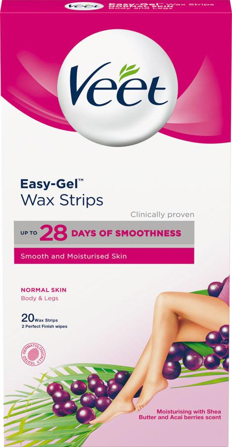 Veet Easy-Gel Wax Strips Normal Skin Body & Legs 20 stk.