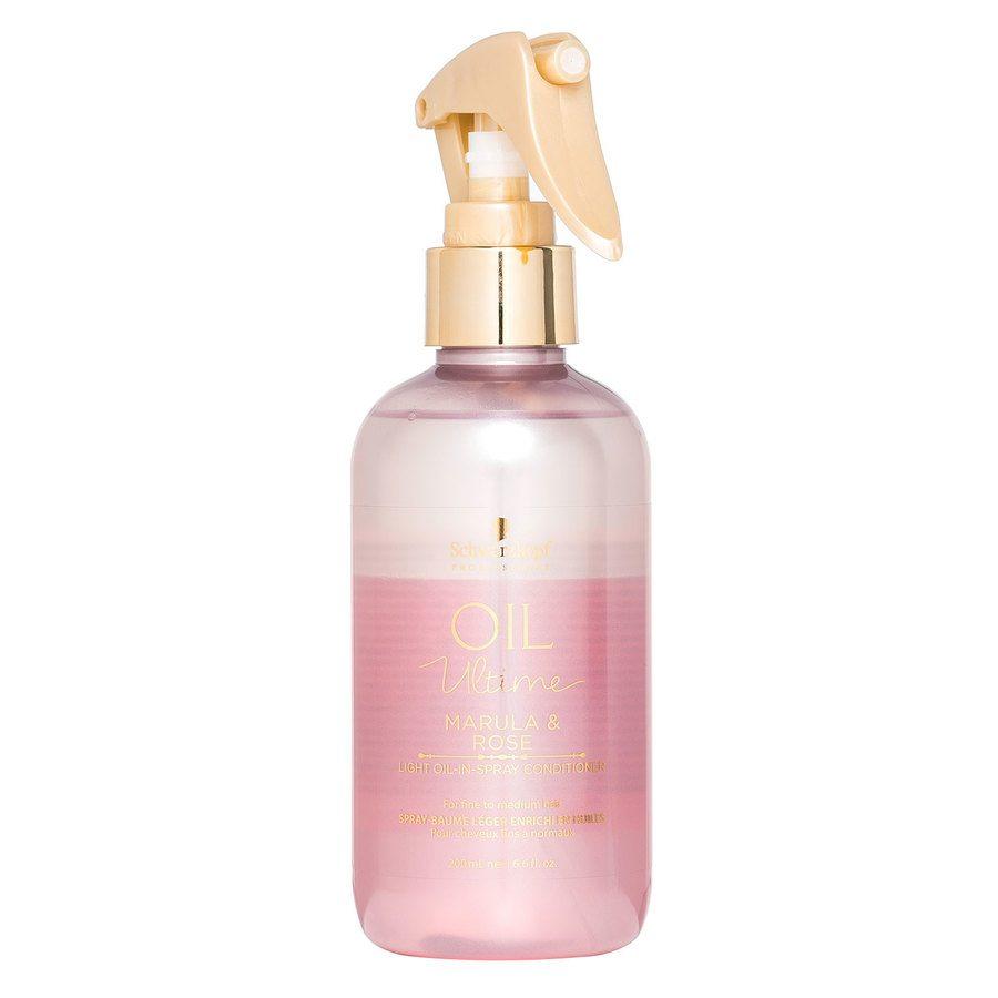 Schwarzkopf Oil Ultime Marula & Rose Light Oil-In-Spray Conditioner 200ml