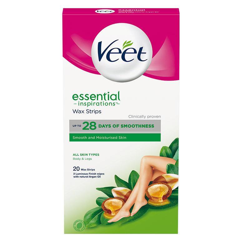 Veet Essential Inspirations Wax Strips All Skin Types Body & Legs 20 stk.