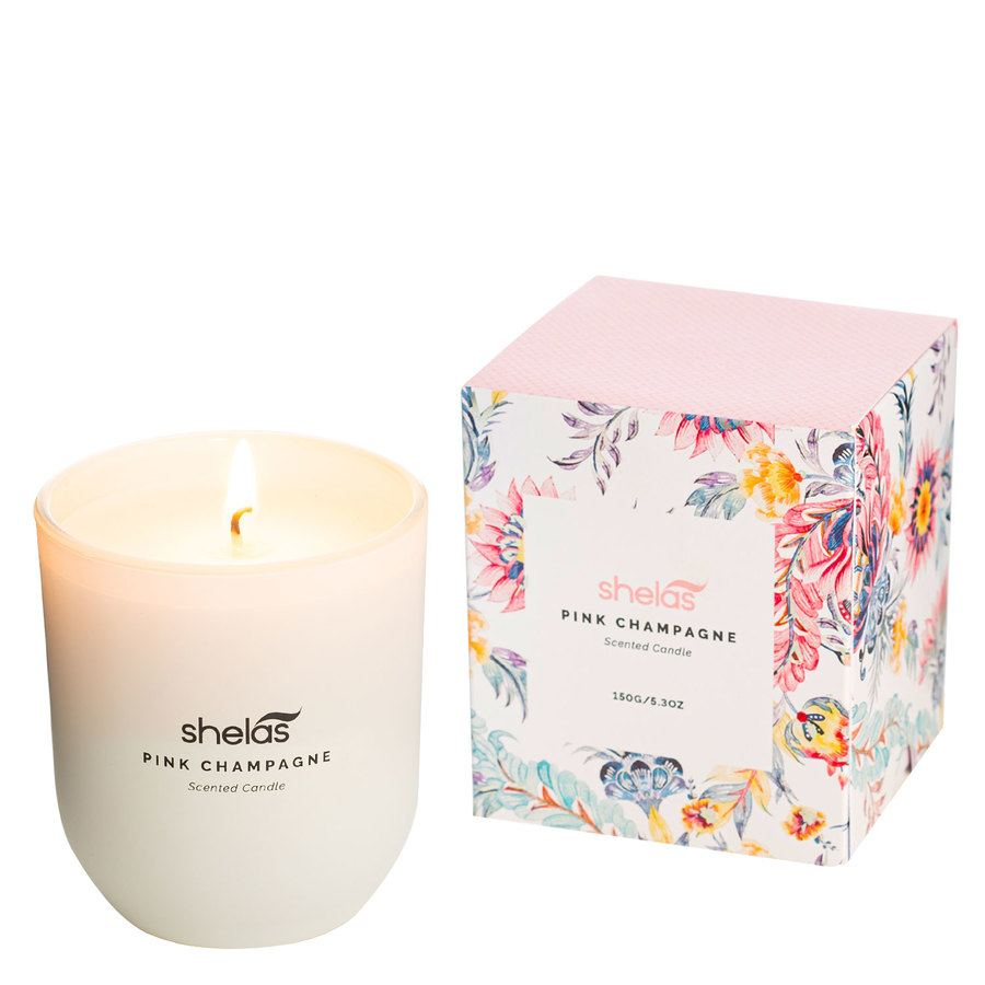 Shelas Scented Candle Pink Champagne 150 g