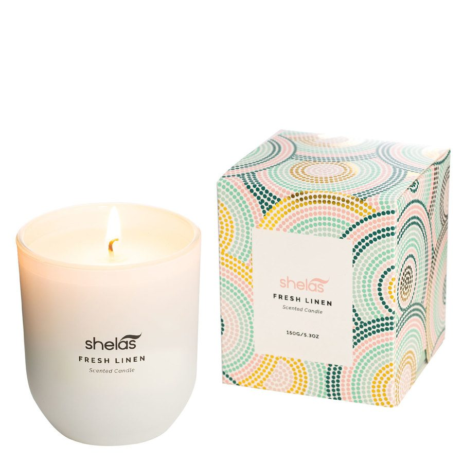 Shelas Scented Candle Fresh Linen 150 g
