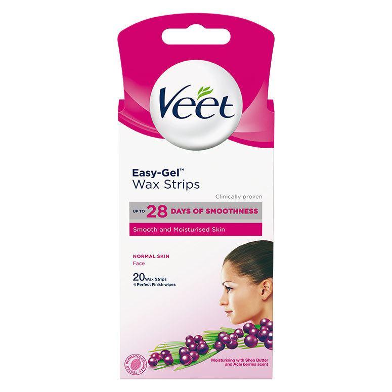 Veet Easy-Gel Cold Wax Strips Face 20 stk.